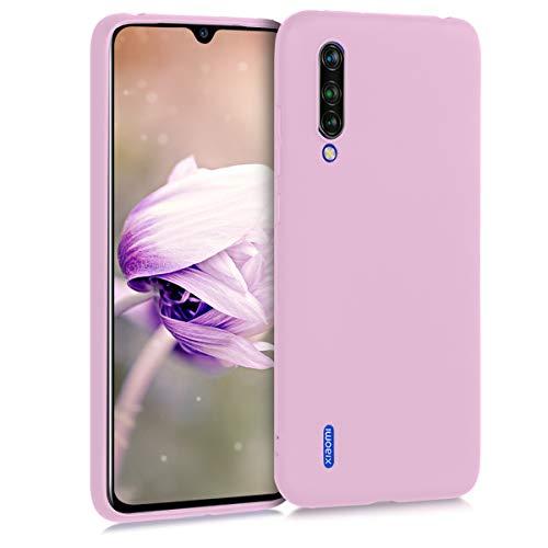 kwmobile Funda Compatible con Xiaomi Mi 9 Lite - Carcasa de TPU Silicona - Protector Trasero en Rosa Palo Mate