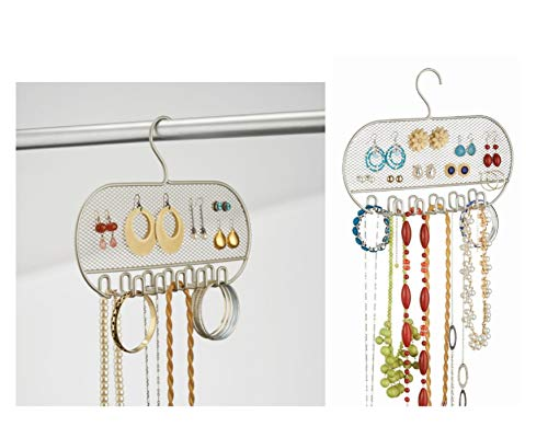 InterDesign 07205EU Classico Organizer voor sieraden en accessoires, om over de deur op te hangen