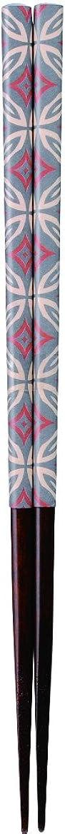 受動的スモッグ知的カワイ 箸 和紙レトロ 七宝 グレー 23cm
