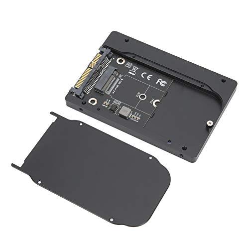 Festplattenbox, PCIE3.0 NVME zu U.2 Adapterkarte SFF8639 Aluminium U2 SSD Gehäuse, Unterstützung für den Anschluss von M.2 NVMe 2280 SSD(schwarz)