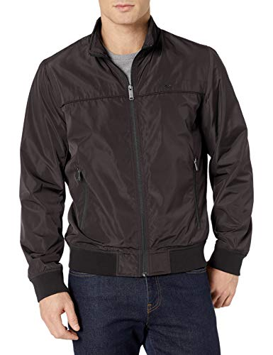 Dockers Men's Classic Stand Collar Bomber Jacket, Black, XX-Large