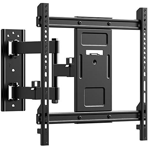 PUTORSEN® TV Wandhalterung Schwenkbar Neigbar max.VESA 400x400mm für 32-70zoll Flach & Curved Fernseher oder Monitor bis zu 50kg