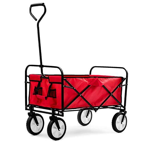 XYQB Klappwagen, Faltbarer Mobiler Outdoor-Camping-Grill-Einkaufswagen Für Gartenhand-Push-Pull-LKWXYQB