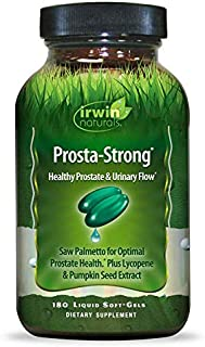 Irwin Naturals Prosta-Strong with Saw Palmetto, Lycopene, and Pumpkin Seed, 180 Liquid Softgels