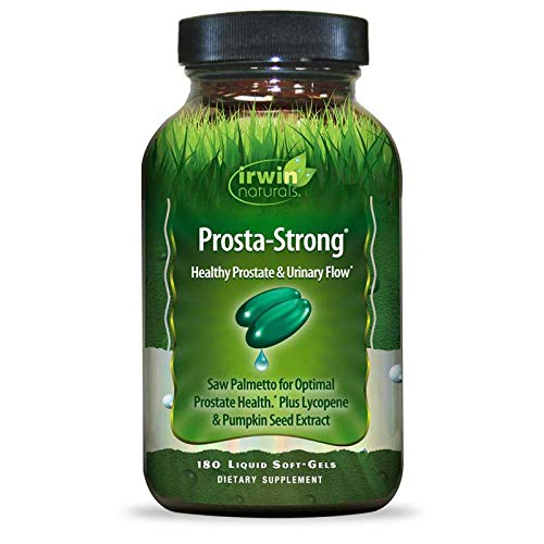 Irwin Naturals Prosta-Strong - Prostate Health Support with Saw Palmetto, Lycopene, Pumpkin Seed & More - 180 Liquid Softgels