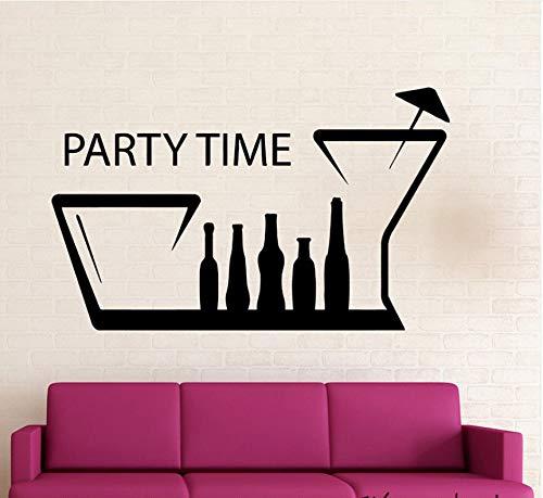 Wuyyii 42X68 Cm Spaß Nachtclub Treffpunkt Positive Wandtattoo Party Zeit Wandaufkleber Für Geburtstagsfeier Zitate Wandkunstwandhauptdekoration