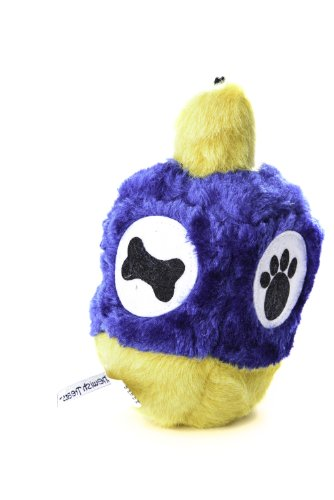 Copa Judaica Chewish Treat 4 by 6.5-Inch Hannukah Dreidel Squeaker Plush Dog Toy, Large, Multicolor