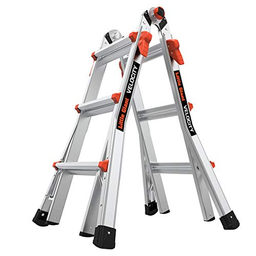Little Giant Ladders Velocity M13 13 Ft MultiPosition Ladder Aluminum Type 1A 300 lbs Weight Rating 15413001