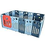 GLYHVXZ Parque Infantil Bebé con 16 Paneles Plegable Centro de Actividad para Niños Barrera de Seguridad con Puerta Valla de Juego
