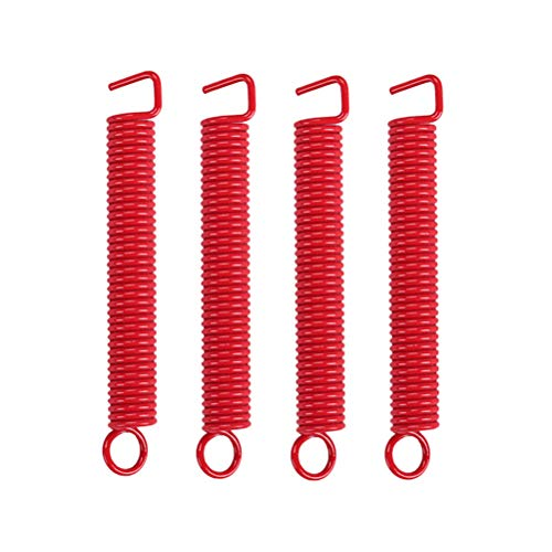 SUPVOX 4pcs Guitar Tremolo Spring Springs para Guitarra eléctrica Tremolo Bridge Springs para Floyd Rose/ST/Stratocaster Style Electric Guitar (Red)