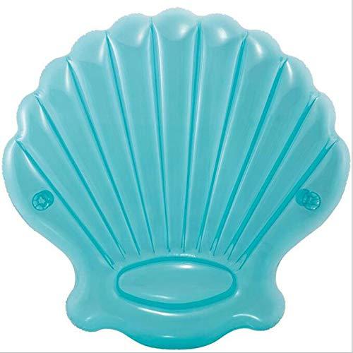 Premium Luftmatratze Muschel (191 cm Durchmesser) sehr groß - Matratze aufblasbar Luft Matratze Luftbett Liege Schwimmliege Schwimmring Schwimm Ring Pool Lounge sea Shell
