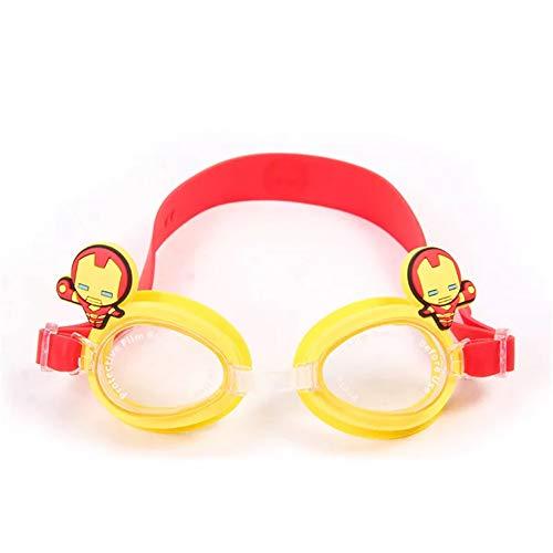 Taolela - Gafas de natación para niños y niñas, para Deportes al Aire Libre, diseño de Hello Kitty y Mickey Mouse, Impermeables, antiniebla, Iron-Man
