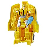 Transformers Spielzeuge Cyberverse Action Attackers 1-Step Changer Bumblebee Action-Figur – Wiederholbare Sting Shot Action Attacke – Für Kinder ab 6 Jahren, 10,5 cm