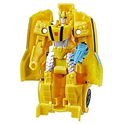 10.5-CM BUMBLEBEE FIGURE: 10.5-cm 1-Step Changer Bumblebee Action Attackers figure inspired by the Cyber verse animated series. REPEATABLE ATTACK MOVE: Convert the heroic Bumblebee figure to reveal his signature Sting Shot Action Attack move. This fu...