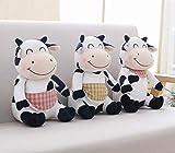 aolongwl Juguete de Peluche 3 Piezas 30 Cm Kawaii Animales Juguetes Juguetes para Niños Vaca De Leche Dibujos Animados Ganado Relleno Peluches para Niños