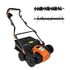 DELTAFOX Electric Vertikutierer Lawn - 1500W Turbo Power Motor - Hög dragkraft - Överbelastningsskydd - 40l fångstväska - 36cm arbetsbredd - stora hjul - upp till 600m2