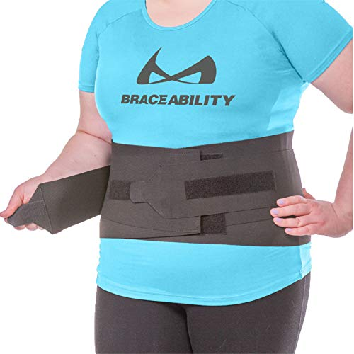 BraceAbility XXXL Plus Size Elastic & Neoprene Compression Back Brace