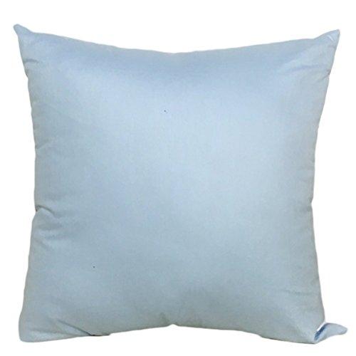 MSYOU algodón Almohada Lanzamiento Almohada Funda de cojín Azul Claro Fácil sofá Almohada cojín Lumbar Decorativa Auto Almohada ( Peces X 45cm )