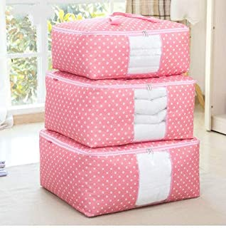 Wuyue Hua Storage Bags Zips, Duvet Storage Bag, Large Underbed Storage Bags Clothes, Bedding, Quilt, Blankets, Clutter, Moving, Made Better, Comfortable No-Smell Fabric, Laundry Bags