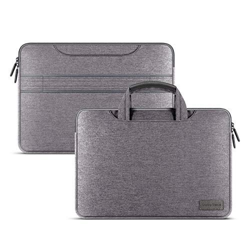 Funda De Manga del Bolso Portátil para MacBook Air Pro 12 13 13.3 14 15.4 Caja De Bolso De Cuaderno A Prueba De Agua para Lenovo DELL HP ASUS (Color : Gray, Size : 13 14 Inch)