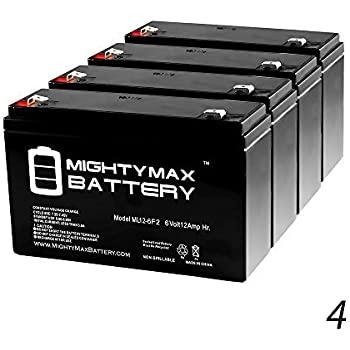 PS-6100-F2 6 Volt 12 AmpH SLA Replacement Battery with F2 Terminal