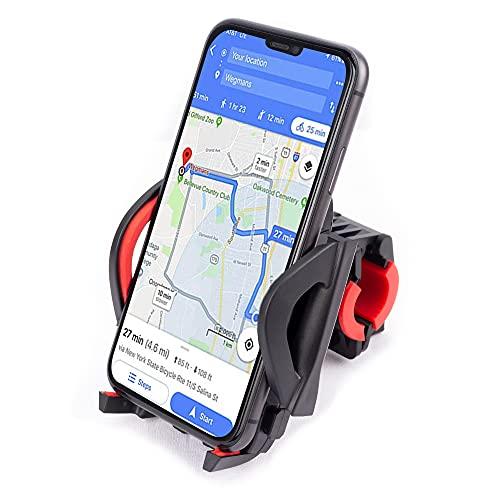 Soporte de teléfono móvil para bicicleta, soporte para teléfono móvil para moto, 360 °, antivibración, giratorio 360°, para teléfono móvil de 3,5 a 7,0 pulgadas
