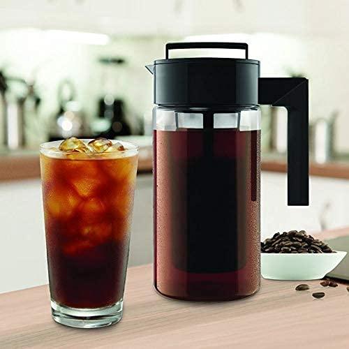 Pequeña cafetera, nosotros envío rápido 900 ml máquina de café helada con mango antideslizante, acero inoxidable..