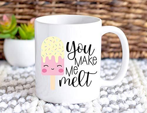 Je maakt me Melt Koffie Mok Koffie Mok Je Maak Me Melt Mok Ijs Koffie Mok Grappige Koffie Mok Ijs Mok