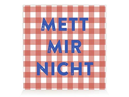 Interluxe houten block Shabby METT Mir Niet spreuk keuken vintage decoratief bord eten
