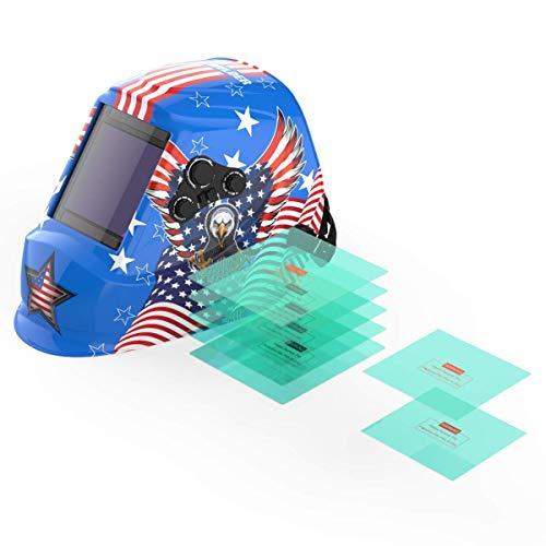 YESWELDER Large Viewing Screen True Color Solar Auto Darkening Welding Helmet&Replacement Lens