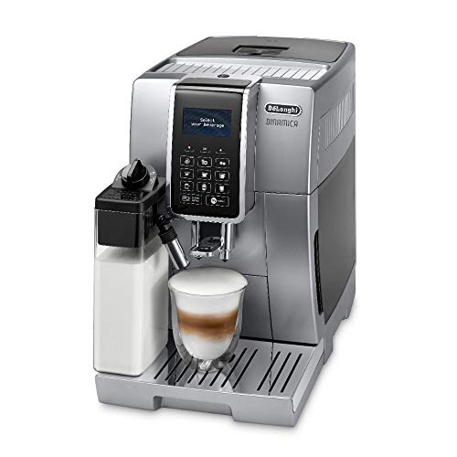 41rCMN7eNFL. SS500  - De'Longhi Dinamica, Fully Automatic Bean to Cup Coffee Machine, Cappuccino, Espresso Coffee Maker, ECAM 350.75.S, Silver