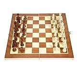 WSZMD Ajedrez Internacional 34 * 34 Cm Plegable De Madera Chess International Chess Checkers Juego...