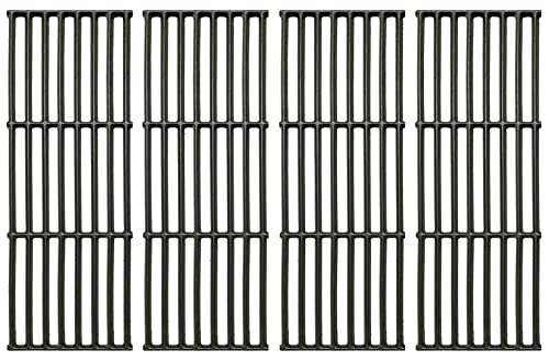 """Votenli C6602D (4-Pack) 17 3/8"""" Cast Iron Cooking Grates Replacement for Broil King Baron 320, 340, 420, 440, 490, Huntington 2122-64, 2122-67, 6020-54, 6020-57, 6020-64, 6020-67, 6023-89 Broil-Mate"""