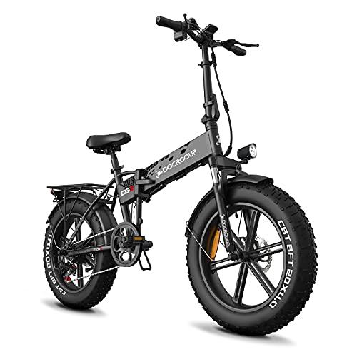Bicicletas eléctricas Plegables para Adultos, Bicicleta eléctrica de 20 Pulgadas con 750W 48V 12Ah y 5 Modos de conducción Bicicleta eléctrica en Ciudad, Nieve, Playa, Bicicleta(Negro)