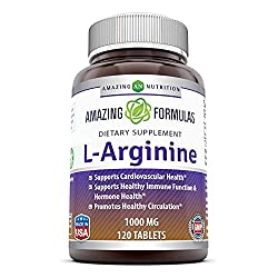 Amazing Formulas L-Arginine - 1000 mg, 120 Tablets