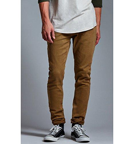 Bullhead Denim Co. Mens Dark Khaki Twill Skinny Jeans