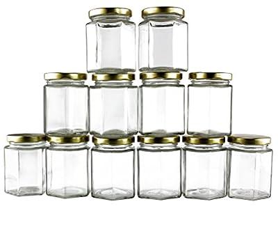 6-Ounce Hexagon Glass Jars