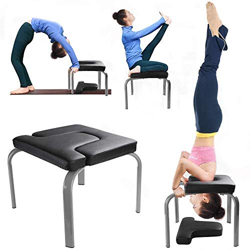 Buy Bargain VBARV Headstand Bench,Stand Yoga Inversion Chair, Steel Frame,Thick Sponge PU Pads, Reli...