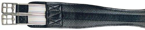 PFIFFsoft Sattelgurt mit Gummizug, schwarz 125cm