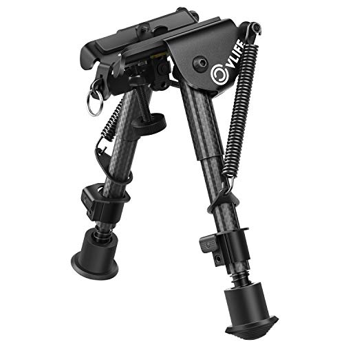 CVLIFE Carbon Fiber Bipod - 6 Inch to 9 Inch Adjustable Super Duty Tactical Rifle Bipod