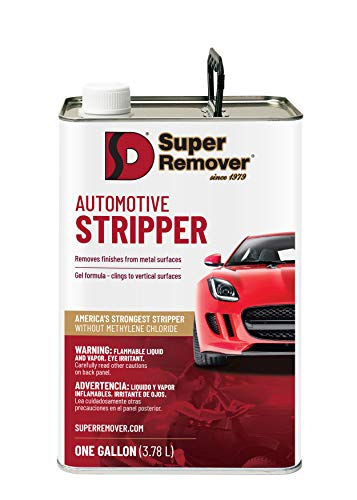 Automotive Stripper (Gallon - 128oz) Super Remover - Removes Paint from Metal - Clings to Vertical Surfaces