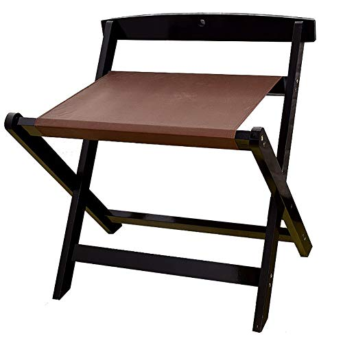 Best Deals! JYXLJ Solid Wood Luggage Rack Backrest, Floor-Standing Foldable Hotel Room Suitcase Rack...