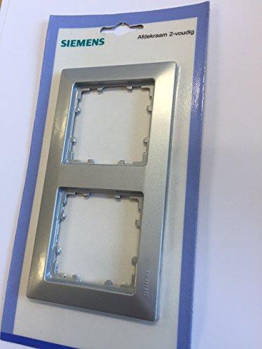 Bjc delta line-miro col SIEM Rahmen 5TG2552-3 2fach aluminium-metallic