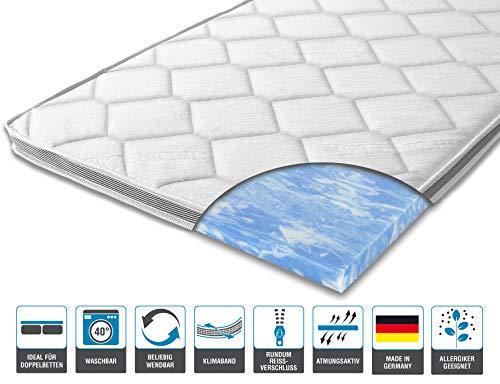 ARBD Matratzenauflage - Topper | Modelle mit 7-12cm Gesamthöhe | waschbarer Bezug mit 3D-Mesh-Klimaband (H2-7 cm, 160 x 200 cm)