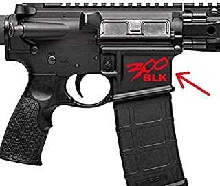 4 pcs 300 Blackout BLK AR15 Lower Graphic - Spartan Style .300 AAC AR Decal | Flag American Sticker | 2020