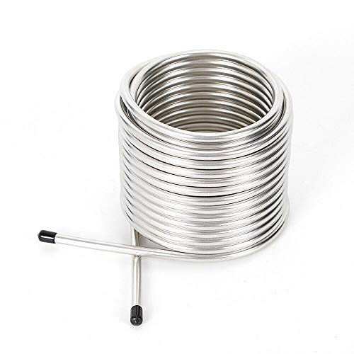 Cooling Coil Pipe, Stainless Steel Immersion Wort Chiller Cooling Coil Pipe for Home Brewing (US Shipping)