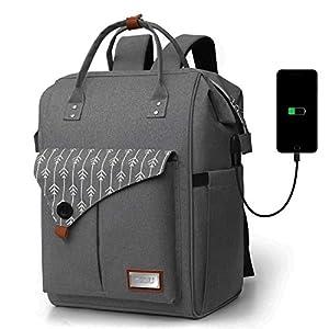 Mochila Mujer para Portátil Mochilas Escolares Juveniles con Puerto USB Resistente al Agua 35L