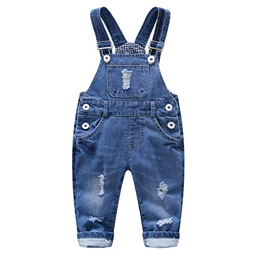 Kidscool Baby Denim Blue Adjustable Soft Straped Overalls