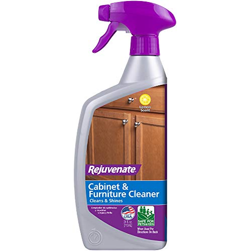 Rejuvenate Cabinet & Furniture Cleaner pH Neutral Streak and Residue Free Cleans Restores Protects