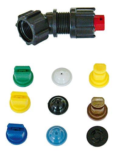 Düsensatz für SOLO Druckspritzen Drucksprüher und Rückenspritzen mit 9 verschiedenen Düsen für den Einsatz in allen wichtigen Anwendungsbereichen